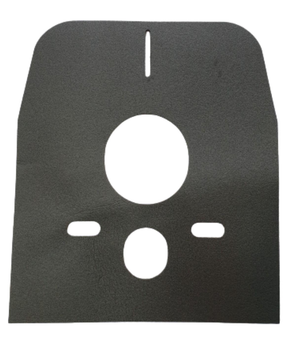 Mata izolująca WC czarna